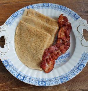 Glutenfrie pannekaker utan egg og mjølk
