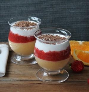Glutenfri dessert med appelsin og jordbær