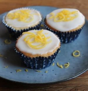 Sitronmuffins utan egg, mjølk og gluten